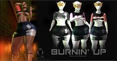 QUEENZ | Burnin' Up (Dria Le'Queen | QUEENZ ♛) Tags: sl secondlife slink style dope denim belleza queenz mrshoodroyal mesh original fitted