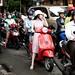 A motorbikes river, Ho Chi Minh City, Saigon, Vietnam