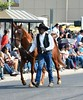 Cowboy and Horse (wildwest photo) Tags: pendletonroundup westwardho parade horse pendletonoregon rodeo cowboy cowgirl wagon buggy september152017 rodeoqueen rodeoprincess queen royalty mulescharrosdeoregonusa roper roping blackcowboy negrocowboy