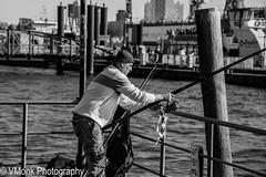 fisherman (vmonk65) Tags: angler hafenhamburg nikon nikond810 sw bw blackwhite blackandwhite harbor hamburg elbe einfarbig