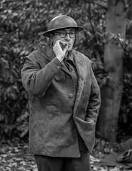 Quick smoke break. (Ian Emerson) Tags: reenactment 1940s wartime papplewick portrait canon 50mm troops