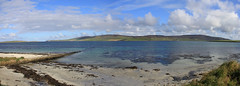 View of Eynhallow Sound (jpotto) Tags: uk orkney evie water sea hills rousay eynhallowsound panoramic