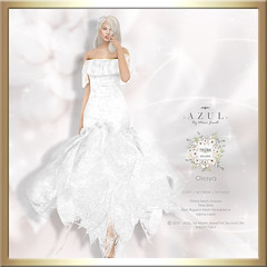 (AD) -AZUL- Olesya [Trunk Show] (mami_jewell) Tags: azul trunkshow dress gown lace flexi formal hautecouture mesh fitmesh flower headpiece new exclusive event release sl secondlife virtual avatar fashion