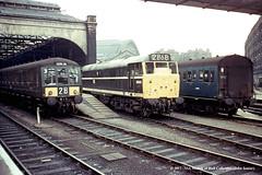 c.1969 - London (Kings Cross). (53A Models) Tags: britishrailways derby highdensity class125 dmu dms e51004 diesel brush type2 class31 d5600 5600 31179 mk1 slo e48018 passenger kingscross london train railway locomotive railroad