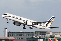 Gainjet 757 SX-RFA EGCC 130127 (Glenn Beasley) Tags: gainjet 757 aircraft aviation airport airline airlines egcc manchester beasley
