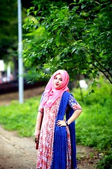Hijab doesn't hide your identity, It gives you one !! (mohammedmunshi) Tags: girl lady simple hijabi elegance pride beauty blueorangepink freedom choice bangladeshi