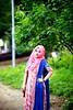 Hijab doesn't hide your identity, It gives you one !! (mohammedmunshi) Tags: girl lady simple hijabi elegance pride beauty blueorangepink freedom choice bangladeshi