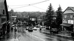 Downtown Huntsville (Bill Smith1) Tags: believeinfilm billsmithsphotography hc110b heyfsc huntsville muskoka olympusom2n rolleisuperpan200 zuikomc50f18lens