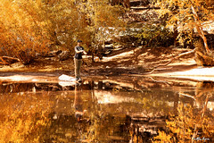 Fall Fishing (The Byrne Files) Tags: flyfishing pond reflections fallfoliage whitneyportal lonepine byrneimagescom