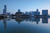 PA151417 (Bernard Yeo) Tags: blue calm cityscape esplanade jubileebridge marinabay rafflescity ritzcarlton sky water