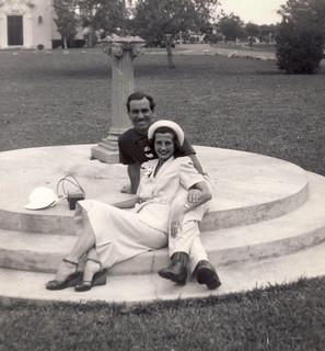Honeymoon, Clara and Angelo in Miami, 1950 (explore)