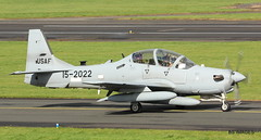 15-2022  Embraer A-29A Super Tucano, United States Air Force, Glasgow Prestwick,5/10/17 (BS Images.) Tags: tucano a29 usaf lebaneseairforce military us ayrshire scotland delivery trainer 152022 pik panther12 egpk gpa prestwick