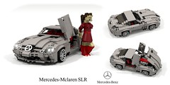 Mclaren Mercedes SLR Coupe (lego911) Tags: 2003 2000s mclaren mercedes srl coupe v8 supercharged auto car moc model miniland lego lego911 ldd render cad povray lugnuts challenge 120 happy10thanniversarylugnuts happy 10th anniversary supercar 42 autosausdeutschland autos aus deutschland germany german