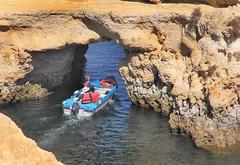 Explorers near Lagos Portugal (D R Swift) Tags: rockformations rockarch viewingrockarch boattrip lagos portugal