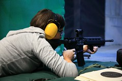 IMG_6821-3 (wmmmk) Tags: people woman girl shooting rifle range 100m 100yards long canon eos 5d 5dmk2 24105l m4 223 556mm weapon