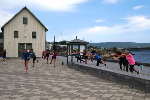 Gaspe Lunch Time Fitness Workout By Locals