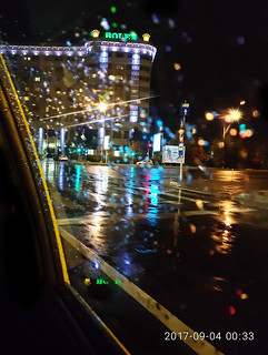 When raindrops and lights meet..