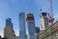 Postcard from New York - The New Skyline (Pushapoze (nmp)) Tags: newyorkcity chelsea thewestside 10thavenue vespa honda purple blue skyscraper gratteciel