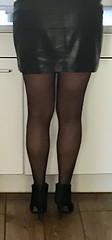 MyLeggyLady (MyLeggyLady) Tags: hotwife milf sexy secretary teasing stockings minidress leather boots stiletto legs heels