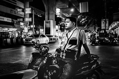 Night Shift. (Presence Inc) Tags: night portrait rx1rm2 people 35mm nightlife colour photograph bangkok citylife filmmood everyday bw fullframe cinematic street sony city mirrorless light nightpeople lowlight urban wideangle rx1r dark photography life zeiss society streetphotography layers candid thailand
