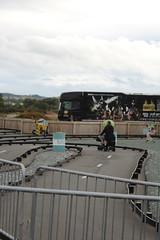 Racer....!!!! (daveandlyn1) Tags: track mobilityscooter icecreamfarm cheshire iii f3556 efs1855mm 1200d eos canon blackwhite monochrome railings coarse lorry