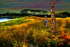 The Totem Pole (Rusty Russ) Tags: totem pole native american carver field flowers existance reality truth colorful day digital graffiti window flickr country bright happy colour eos scenic america world sunset beach water sky red nature blue white tree green art light sun cloud park landscape summer city yellow people old new photoshop google bing yahoo stumbleupon getty national geographic creative composite manipulation hue pinterest blog twitter comons wiki pixel artistic topaz filter on1 image