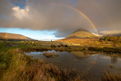 Rainbow over Glamaig (JamesPicture) Tags: isleofskye scotland sligachan unitedkingdom gb kase fuji glamaig rainbow bridge doublerainbow