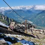 Ancien télépherique de l'Aiguille du Midi, gare des glaciers, Chamonix thumbnail