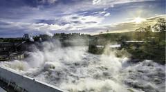 Hydro-power! (nils.loland) Tags: hydropower powerplant river flood landscape dam norway rygenehpp grimstad arendal