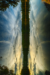 ...Verticalized... (7H3M4R713N) Tags: fujifilm rokinon8mmf28 fisheye xt2 manuallens manualfocus clouds sky morning gruère etang étangdelagruère switzerland jura landscape brained