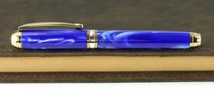 Pearl Blue Fountain Pen - Beaufort Nib (BenjaminCookDesigns) Tags: fountainpen custom bespoke engraved personalised classic vintage artdeco style gift birthday christmas fpgeeks fpn giftforhim giftforher pearl blue