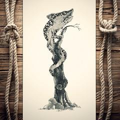 Ihameleon (reXraXon) Tags: art artwork pencilart drawing handdrawing sketch pencilsketch typography lettering handlettering letteringart chameleon tree