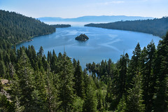 Emerald Bay (Christopher Wallace) Tags: emeraldbay laketahoe california fannetteisland trees pines tree lake bay water mountains green blue nikon d500 18200 18200mm digital landscape natural nature beauty beautiful forest sky mountain bluff