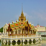 Phra Thinang Aisawan Thiphya-Art at the Royal Palace in Bang Pa-In, Ayutthaya, Thailand thumbnail