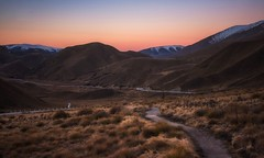 The Long And Winding Road (Anna Kwa) Tags: tussockgrassland saddle valley ahuriririvers lindis 971metres scenicdrive lindispass mckenziebasin winding road long sunset dusk southernalps southisland newzealand annakwa nikon d750 afsnikkor24120mmf4ged my life detours always destiny fate seeing heart soul throughmylens earth round meet dreams travel world omm thelongandwindingroad journey