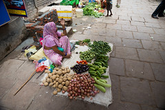 Market life in Varanasi, India. (cookiesound) Tags: varanasi india travel travelphotography inspiration nisamaier ullimaier cookiesound canon adventure documentary street streetlife market marketlife woman vegetables fruit life vendor streetvendor