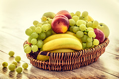 Bunch (Mr.JamesBaker) Tags: apples bananas basket bunch closeup delicious diet food fresh fruit fruitbasket grapes health healthy juicy nutrition stilllife studio woodentable