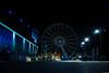 Liverpool Wheel (aljones27) Tags: liverpool merseyside waterfront albertdock acc night nighttime dark light lights wheel blue