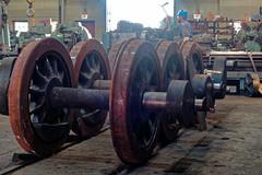 Loco wheelsets, Durango workshop IMG_5311 Durango & Silverton RR (Recliner) Tags: baldwin dsng drg