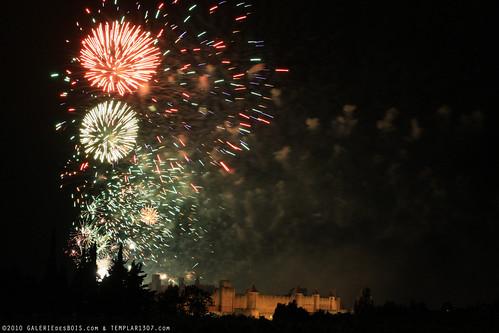 FR10 8361 Le 14 Juillet, la Fête Nationale Française. La Cité de Carcassonne, Aude, Languedoc