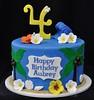 Hawaiian Moana themed birthday cake (jennywenny) Tags: moana hibiscus wave palm tree hawaii luau frangipane plumeria sand