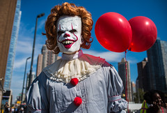 ComicCon2017-2(NYC) (bigbuddy1988) Tags: comiccon newyork comiccon2017nyc nyc usa new digital red blue clown pennywise white people portrait photography city manhattan weird sky
