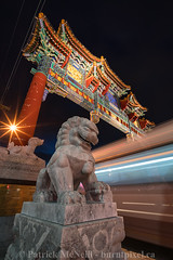 Ottawa Set Four - 5 (burntpixel.ca) Tags: canada ontario ottawa photo photograph fine art patrick mcneill burntpixel wrench777 beautiful spectacular sony a7r2 a7rii sonya7r2 urban vertical evening night long exposure blur colourful colorful lion sculpture gate china chinese chinatown architecture tourism somerset