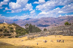 A look down at Cusco from Sacsayhuaman site.