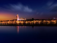 Deventer aanzicht vanaf IJsselhotel (Bart Ros) Tags: ifttt 500px sky reflections city water river night buildings clouds cloudscape urban cityscape holland netherlands skyline deventer nederland ijssel