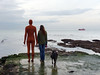 Jane made a new friend... (maggie224 -) Tags: jane anthonygormley sea sculpture mpt599 startswithmatchpoint matchpointwinner