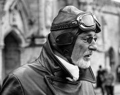 Biggles (phil anker) Tags: people mono salisbury pilot leather
