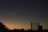 Gasometro al tramonto (Sanzio33) Tags: gasometro gas meter rome roma ostiense piramide tevere profilo skyline sky line sunset twilight red orange blue fall autumn minimalist black amazing light lights color colour colors colours tramonto sun sole silhouette