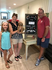 Kizzie's Palmer with her new family on pick day!