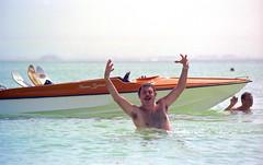 1980 - Doha Water Skiing 5, Film 18 (Phytophot) Tags: bernieclarke doha waterskiing qatar 1981 sheraton island sun skiing